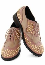 nude studded oxfords